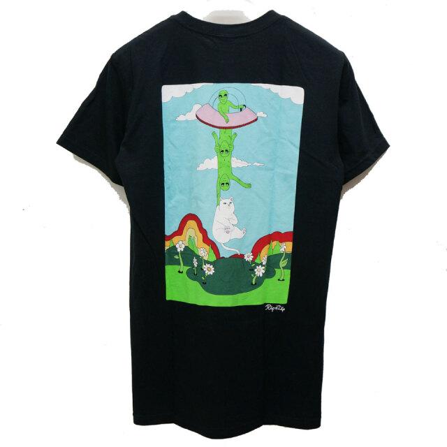 RIPNDIP リップンディップ ポケットTシャツ ABDUCTION S/S Tee ブラック 黒 BLACK