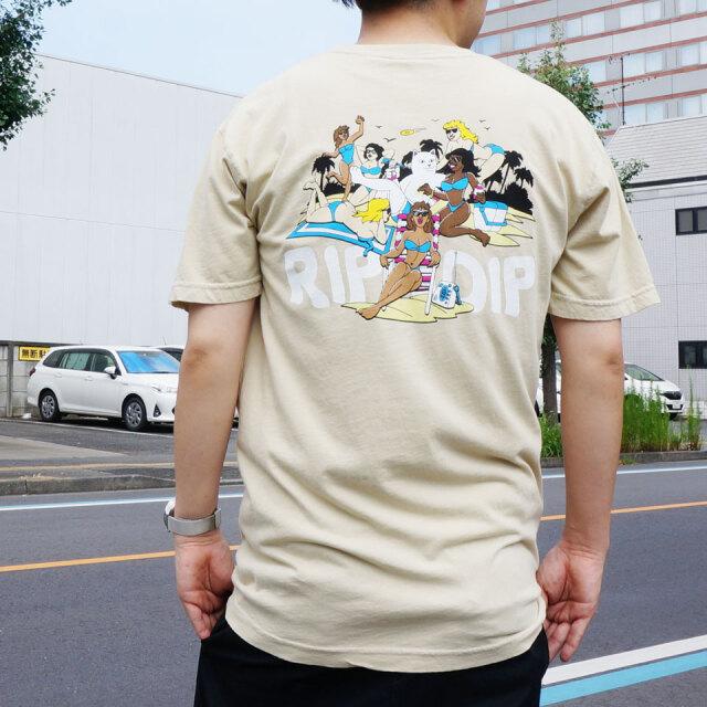 RIPNDIP リップンディップ Tシャツ SPRING BREAK S/S Tee タン TAN ベージュ BEIGE