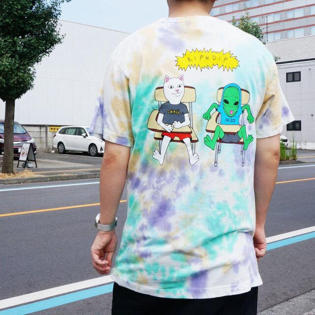 RIPNDIP リップンディップ Tシャツ BUDZ UP S/S Tee タイダイ マルチカラー