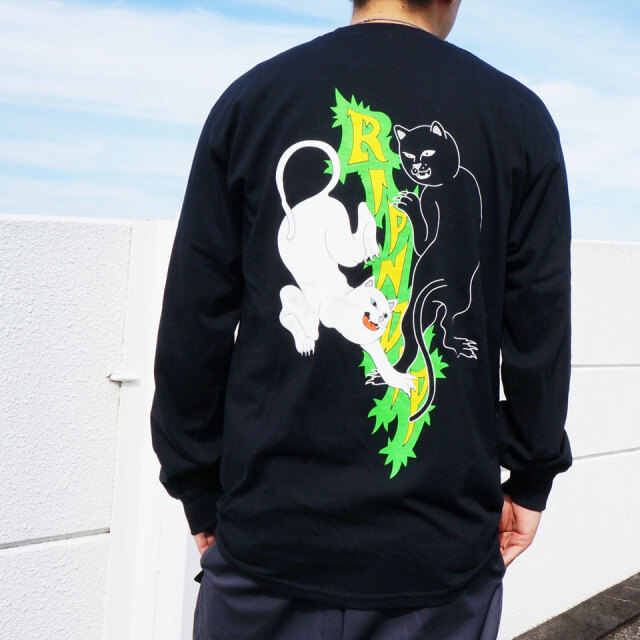 SALE セール リップンディップ RIPNDIP ロンT Tシャツ FEUD L/S Tee ブラック 黒