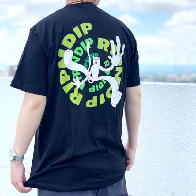 リップンディップ RIPNDIP Tシャツ DESCENDING S/S Tee ブラック