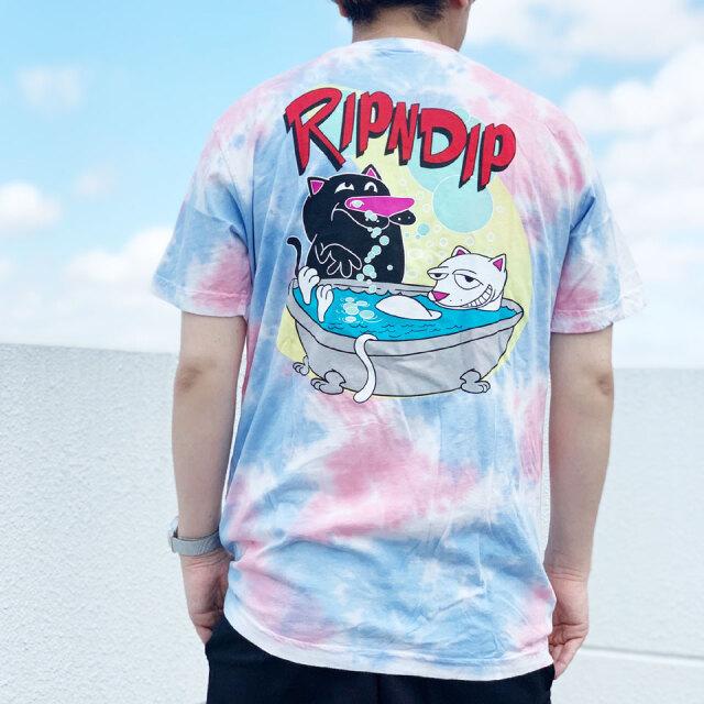 リップンディップ RIPNDIP Tシャツ BATH TIME S/S Tee ピンク