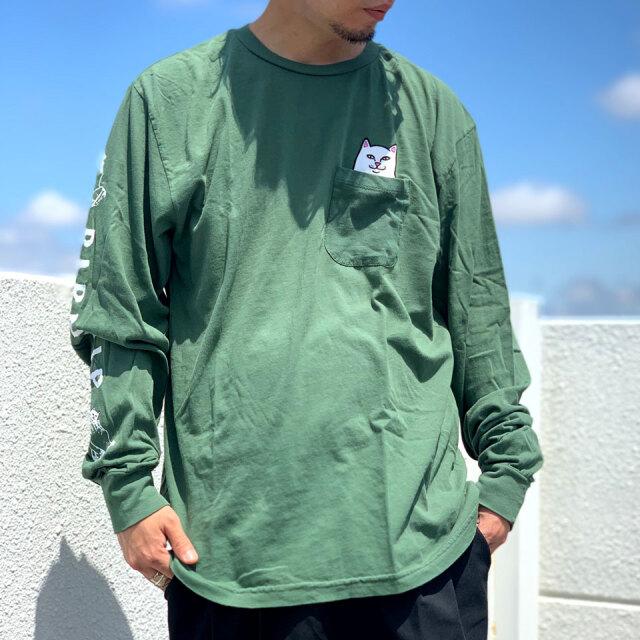 全2色 リップンディップ RIPNDIP ロンT Tシャツ LORD NERMAL L/S Tee オリーブ タン