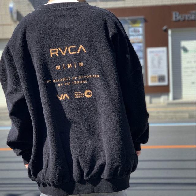 RVCA ルーカ ビッグシルエットスウェット IN SIDE OUT OVERSIZE SWEAT AJ042-008 ホワイト ブラック