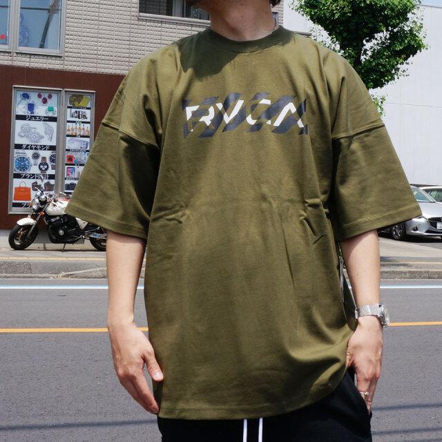 全3色 RVCA ルーカ ビッグシルエットTシャツ HAZARD S/S Tee ホワイト ベージュ モスグリーン BA041223