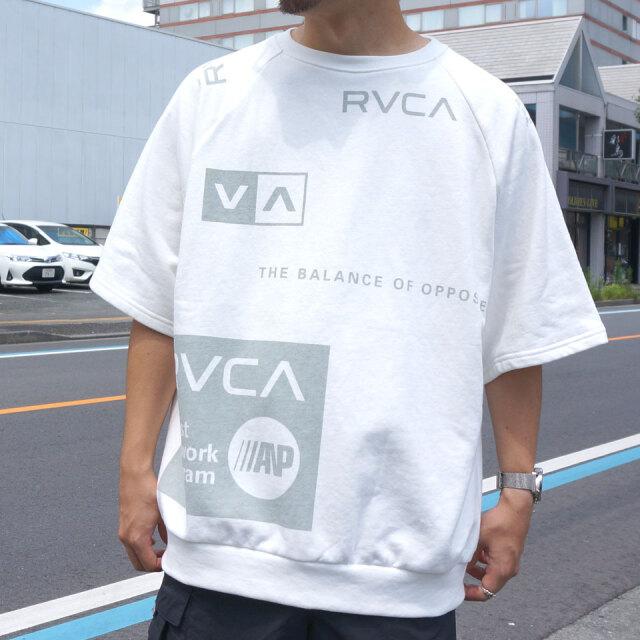 全2色 RVCA ルーカ Tシャツ ALL OVER RVCA S/S Tee ホワイト ブラック セットアップ BA041-320
