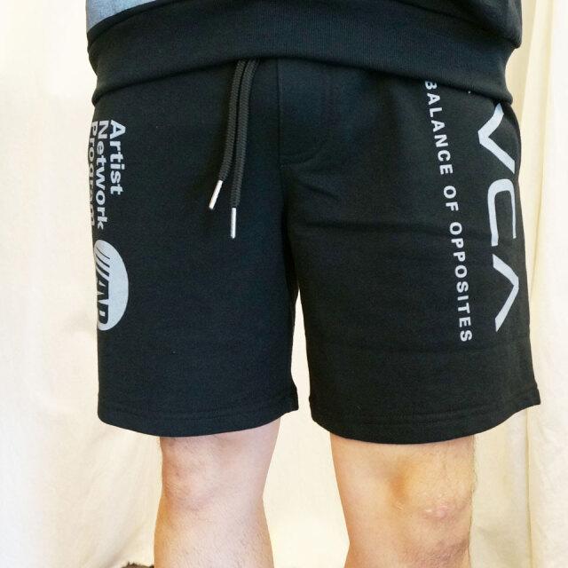 RVCA ルーカ ショートパンツ ALL OVER RVCA SHORTS ショーツ ブラック セットアップ BA041-607