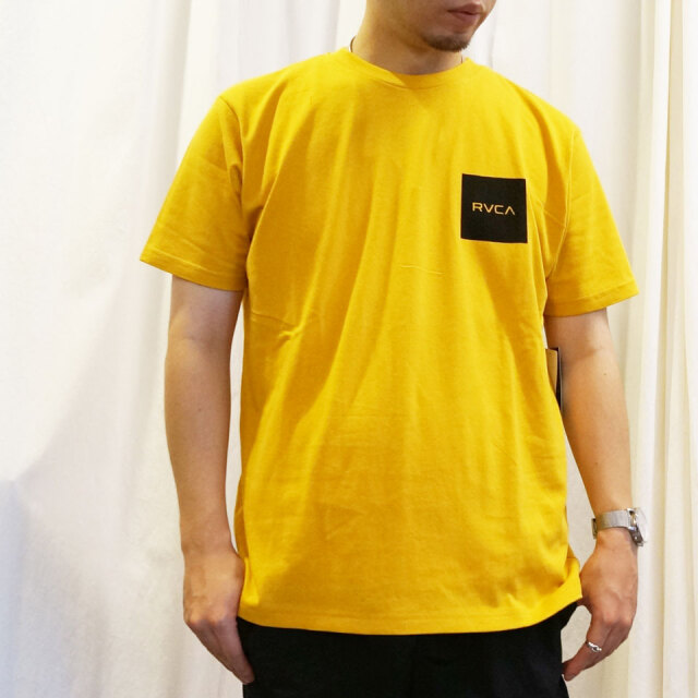 全2色 RVCA ルーカ Tシャツ SQUARE BALANCE S/S Tee ホワイト ゴールド BA041-255
