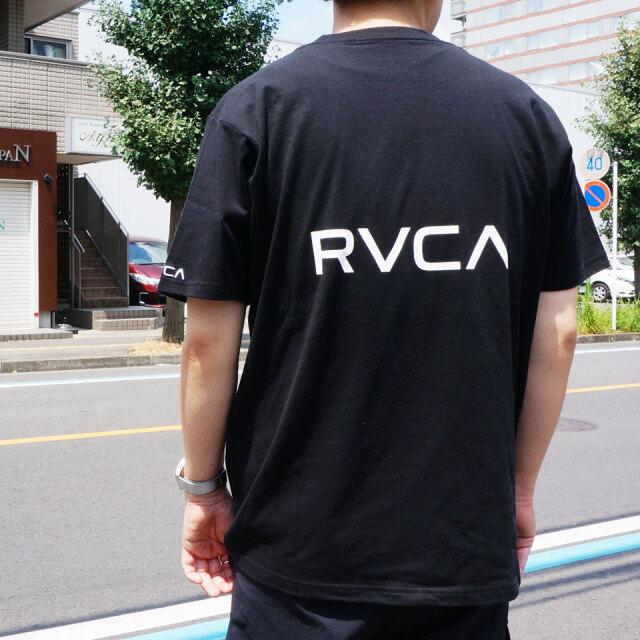 全2色 RVCA ルーカ Tシャツ BACK RVCA S/S Tee ブラック ブラウン BA041-250