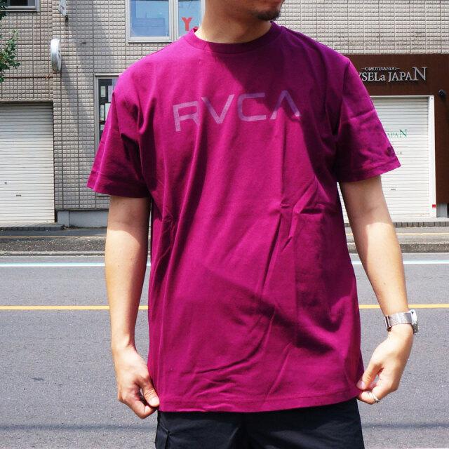 SALE セール 全2色 RVCA ルーカ Tシャツ BIG RVCA S/S Tee ゴールド ワインレッド BA041-249