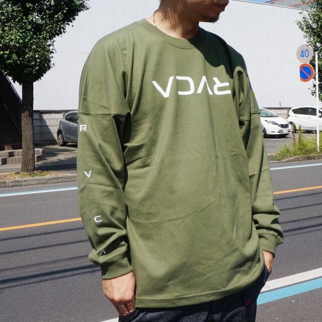 全2色 RVCA ルーカ ロンT ビッグシルエット Tシャツ SMALL FLIP RVCA L/S Tee ベージュ モスグリーン BA042-060