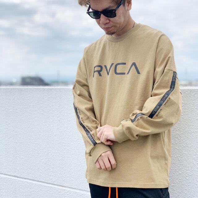 全3色 RVCA ルーカ BIG RVCA L/S Tee ロンT ビッグシルエット Tシャツ ホワイト ブラック ベージュ BB041-052