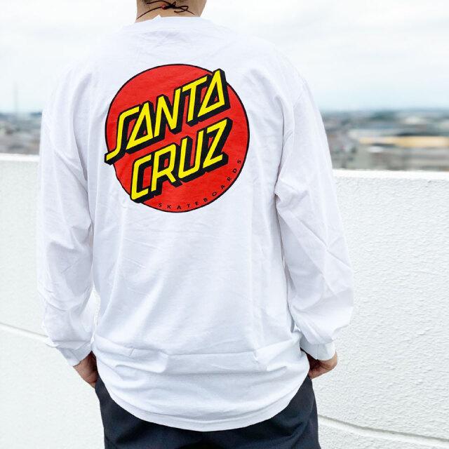 全2色 サンタクルーズ SANTA CRUZ サンタクルズ ロンT Tシャツ CLASSIC DOT L/S Tee 長袖 定番ロゴ ホワイト ブラック