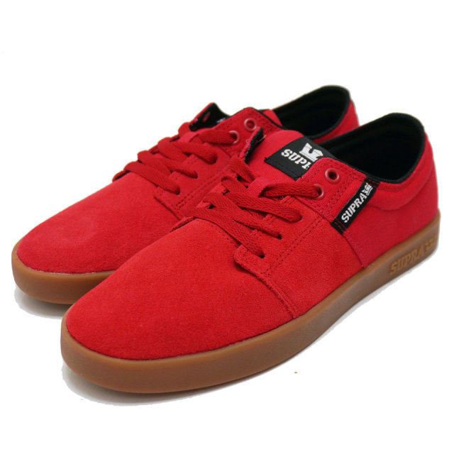 SUPRA スープラ STACKS2 - RED/GUM 08183-615