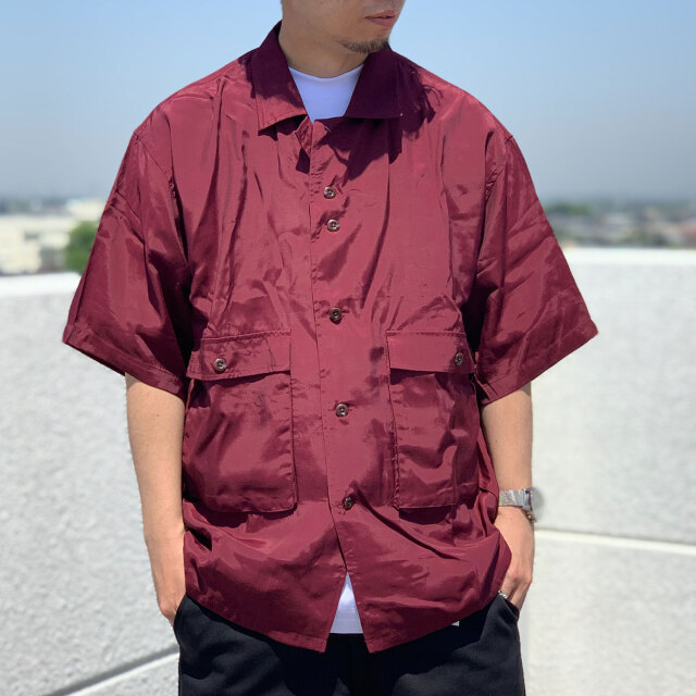 SALE セール TENBOX 10匣 テンボックス 半袖シャツ DRUG DEALER RAYON SHIRT バーガンディー