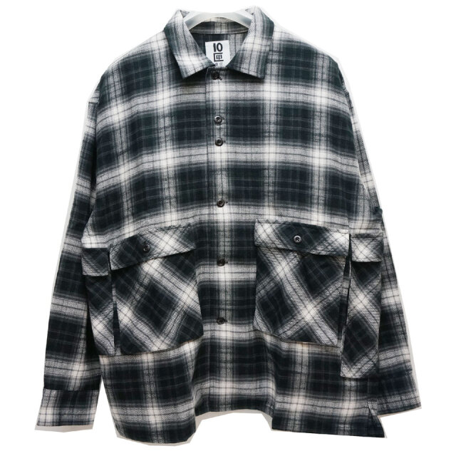 TENBOX 10匣 テンボックス 長袖シャツ DRAG DEALER SHIRT ネルシャツ チェックシャツ ブラック
