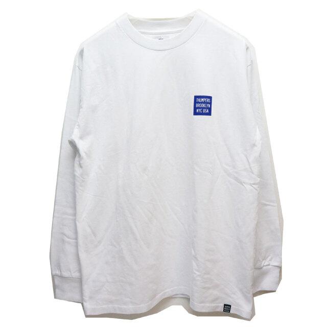 全2色 サンパースブルックリン THUMPERS BROOKLYN NYC ロンT Tシャツ PIXEL LOGO L/S Tee ホワイト ブラック