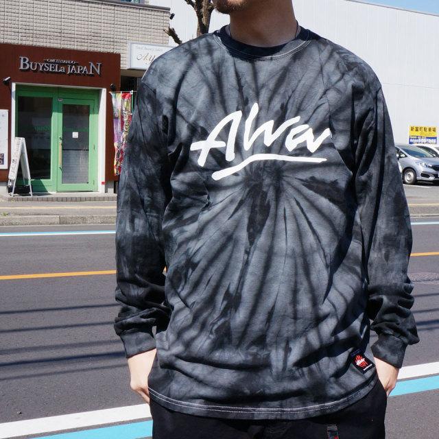TONY ALVA トニーアルバ ALVA SKATES ロンT Tシャツ OG LOGO TIEDYE L/S Tee ブラック