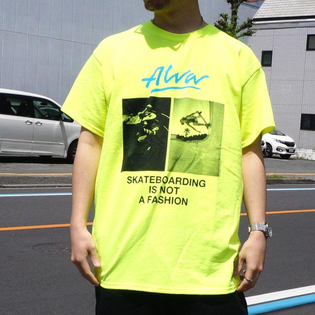 TONY ALVA トニーアルバ Tシャツ PHOTO PRINT Tee ホワイト ブラック ネオンイエロー