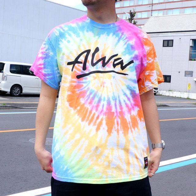 SALE セール TONY ALVA トニーアルバ Tシャツ OG LOGO TIEDYE S/S Tee タイダイ S.ブラック エタニティ レインボー