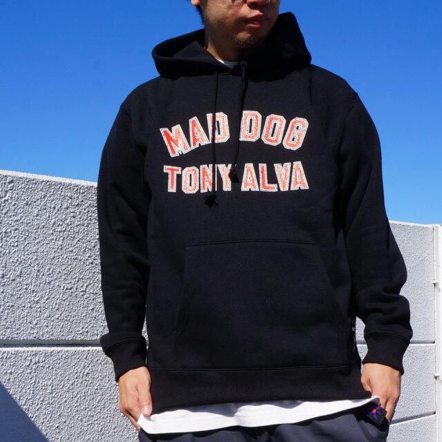 SALE セール TONY ALVA トニーアルバ MAD DOG ARCH LOGO HOODIE パーカー ブラック