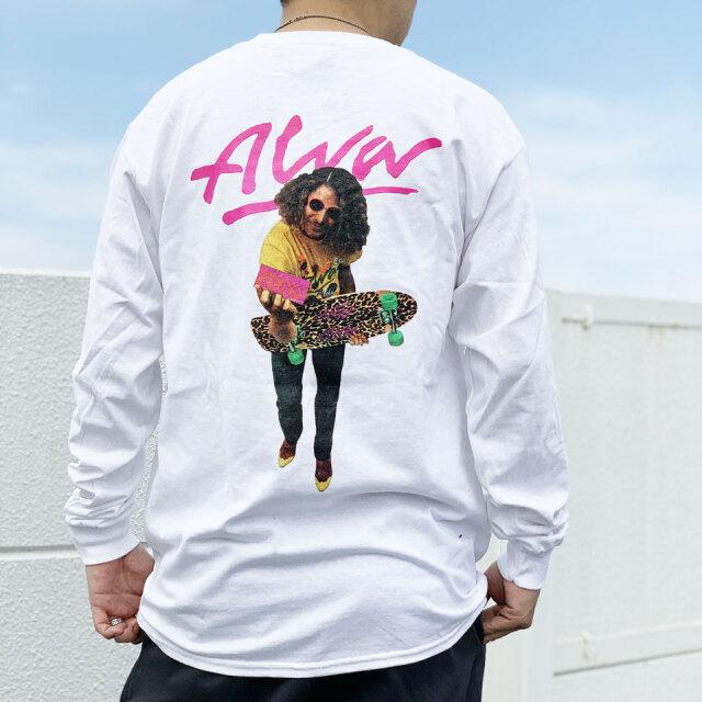 全2色 TONY ALVA トニーアルバ ALVA PHOTO L/S Tee ロンT Tシャツ ホワイト ブラック