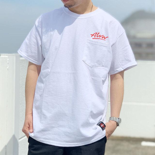 別注 全2色 TONY ALVA トニーアルバ Tシャツ OG LOGO POCKET Tee ポケットTシャツ ホワイト ブラック