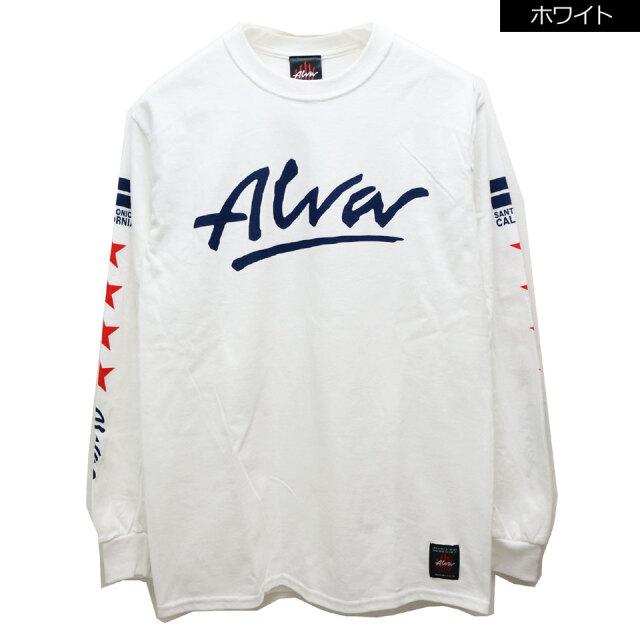 別注 全2色 TONY ALVA トニーアルバ STAR L/S Tee ロンT Tシャツ ホワイト ブラック