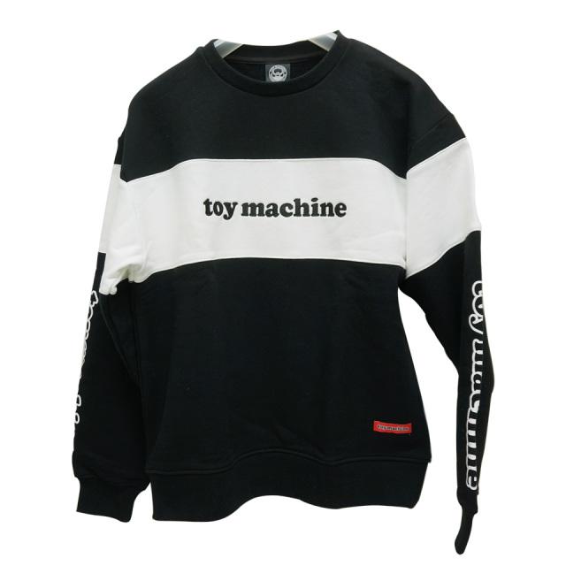トイマシーン TOY MACHINE クルースウェット TOY MACH LOGO CREW NECK SWEAT トレーナー ブラック/ホワイト 黒 白 BLACK WHITE TMP20SW7