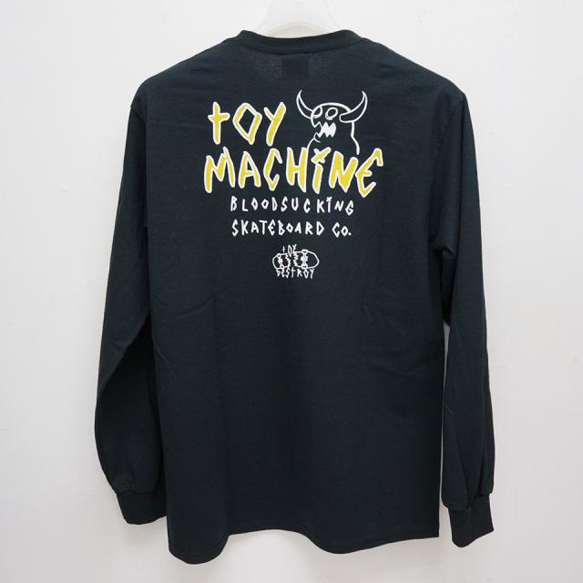 トイマシーン TOY MACHINE ロンT Tシャツ MONSTER MARKED EMBRO L/S Tee 長袖 袖プリント TMP20LT2