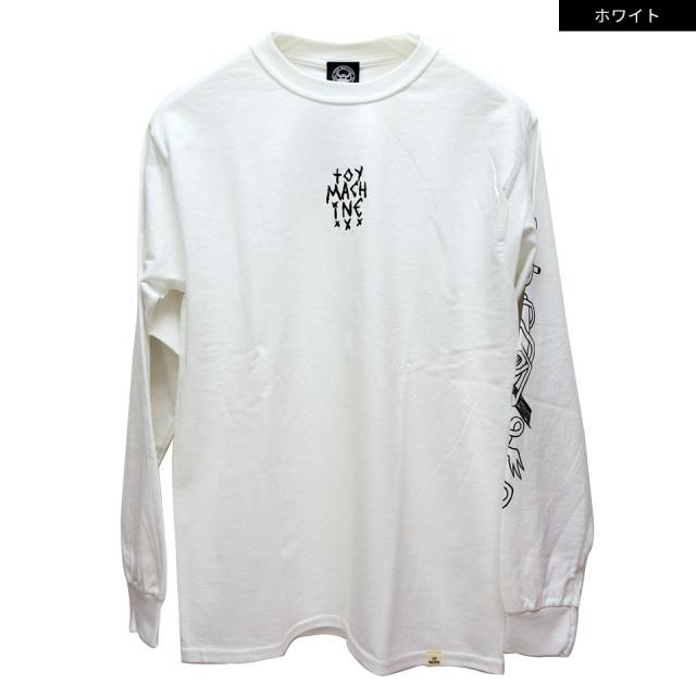 トイマシーン TOY MACHINE ロンT Tシャツ TOY MACH LOGO EMBRO L/S Tee 長袖 袖プリント TMP20LT1