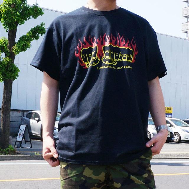 全2色 TOY MACHINE トイマシーン Tシャツ FIST FLAME LOGO S/S Tee ブラック パープル TMS20ST16