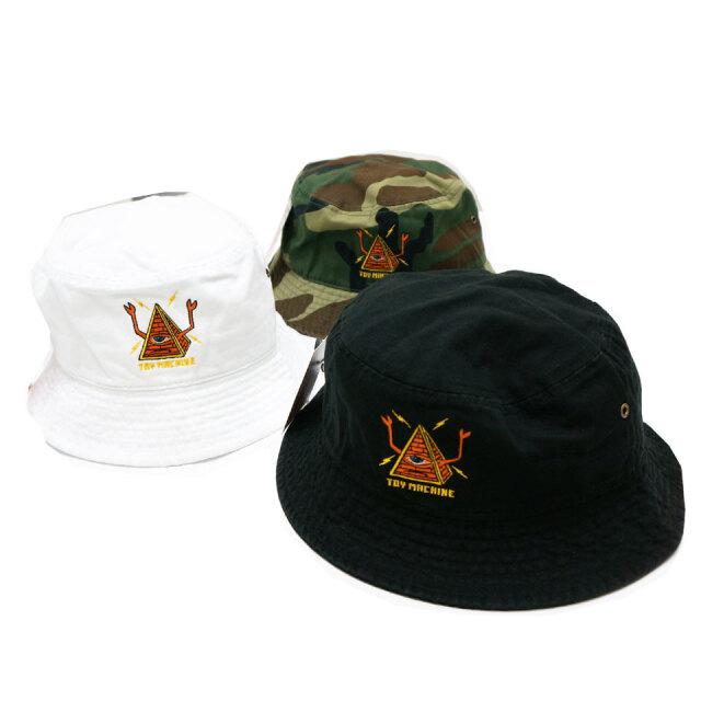 全3色 TOY MACHINE トイマシーン バケットハット PYRAMID SECT BUCKET HAT ハット 帽子 ブラック ホワイト 迷彩 TMS20HW35