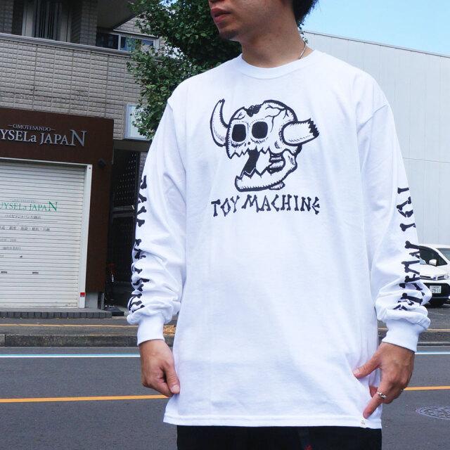 全2色 トイマシーン TOY MACHINE ロンT Tシャツ DEAD MONSTER L/S Tee 長袖 袖プリント ホワイト ブラック