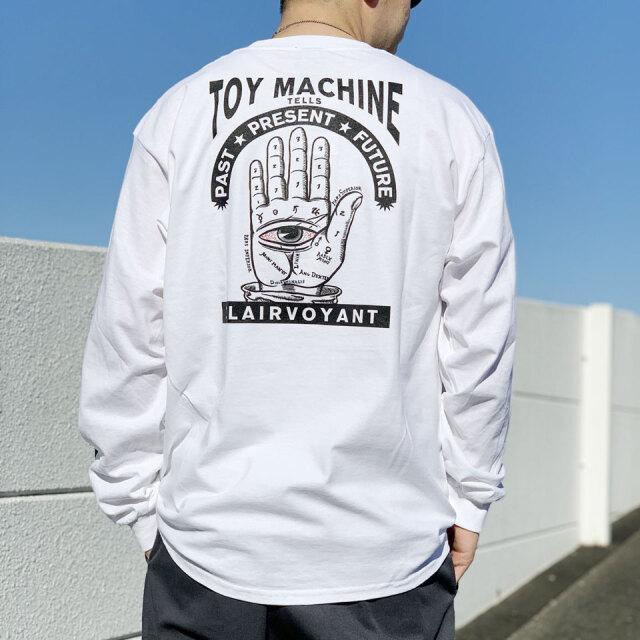 全2色 トイマシーン TOY MACHINE ロンT Tシャツ CLAIRVOYANT L/S Tee ホワイト ブラック