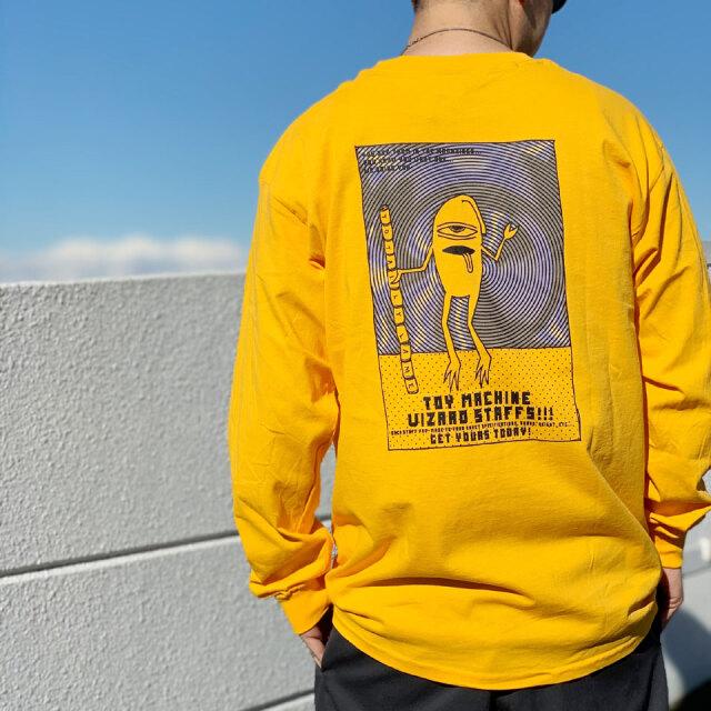 全2色 トイマシーン TOY MACHINE ロンT Tシャツ SECT STAFF GRADATION L/S Tee ホワイト ゴールド