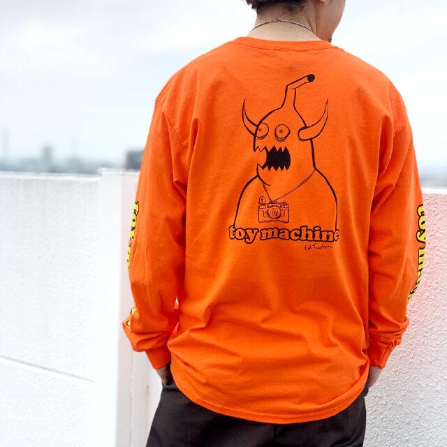 全2色 トイマシーン TOY MACHINE ロンT Tシャツ ED MONSTER PRINT L/S Tee ブラック オレンジ TMPBLT22