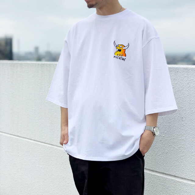 全2色 TOY MACHINE トイマシーン Tシャツ MONSTER MARKED 3/4 SLEEVE Tee ホワイト ブラック TMPBLT26