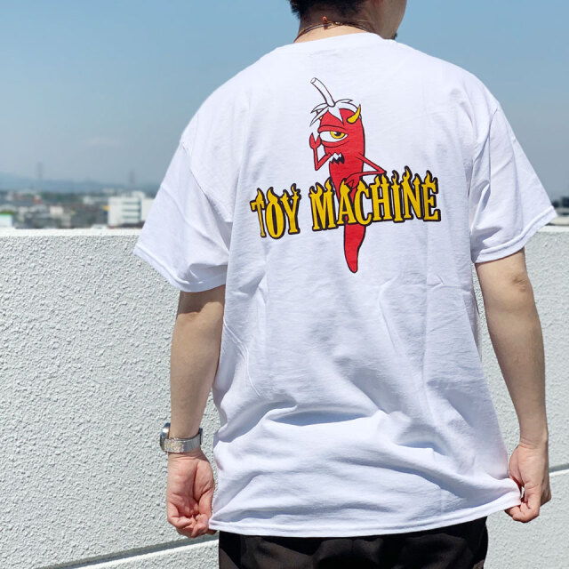 TOY MACHINE トイマシーン Tシャツ PEPPER SECT S/S Tee ホワイト TMSBST6