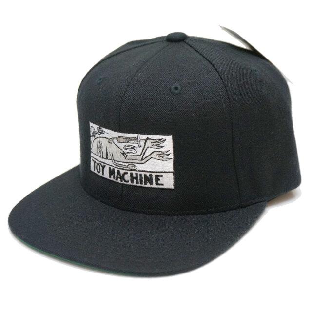トイマシーン TOY MACHINE キャップ スナップバック DRUGGED EYES B.B CAP ブラック 黒 TMSBHW12