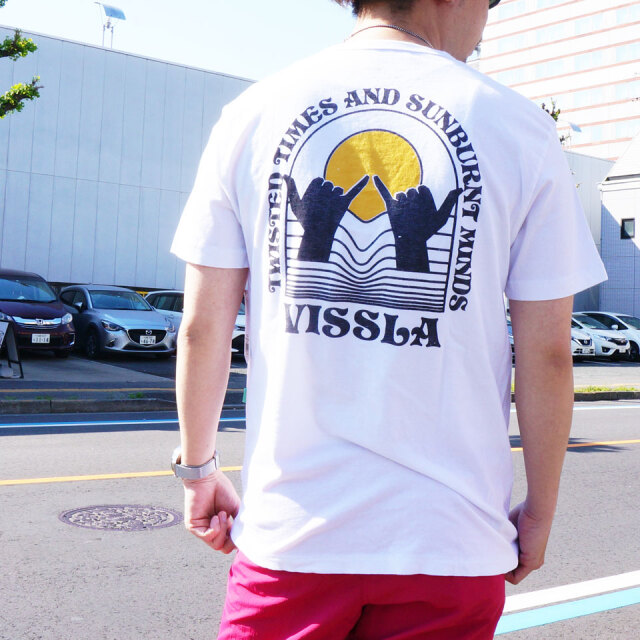 全2色 VISSLA ヴィスラ ビスラ Tシャツ REAL FUN WAVES Tee ホワイト ピンク