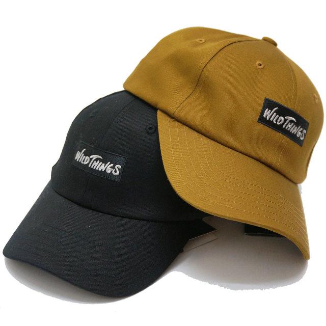 WILD THINGS ワイルドシングス ローキャップ LOGO 6PANEL CAP 帽子 ブラック コヨーテ