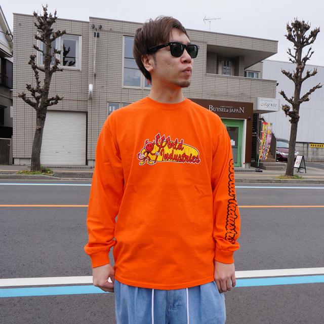 ワールドインダストリーズ WORLD INDUSTRIES ロンT Tシャツ RETRO CORP LOGO L/S Tee 長袖
