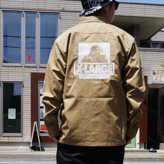 XLARGE エクストララージ ワークシャツ L/S OG WORK SHIRT
