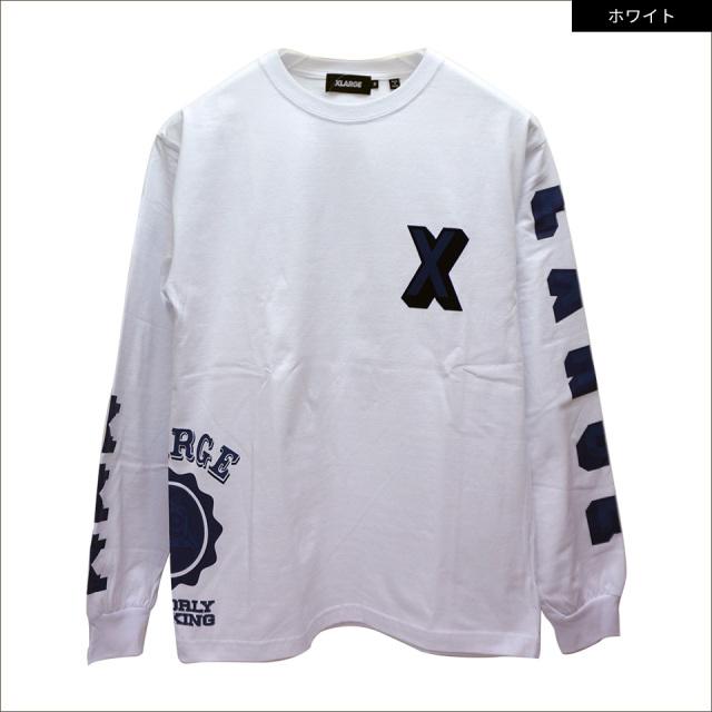 エクストララージ XLARGE ロンT Tシャツ RAMDOM PRINT COLLEGE LOGO L/S Tee 長袖  01201122