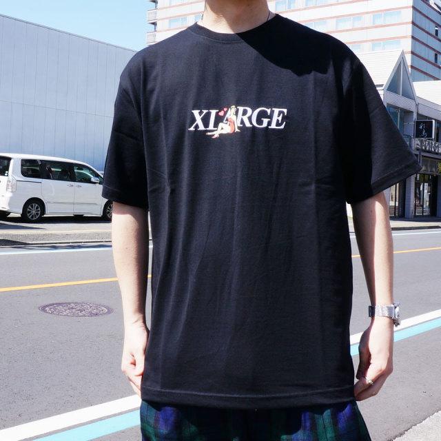 エクストララージ XLARGE Tシャツ ALONE S/S Tee 半袖  ホワイト ブラック パープル