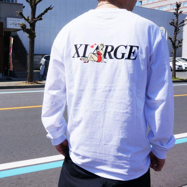 エクストララージ XLARGE ロンT Tシャツ ALONE L/S Tee 長袖  ホワイト ブラック ピンク