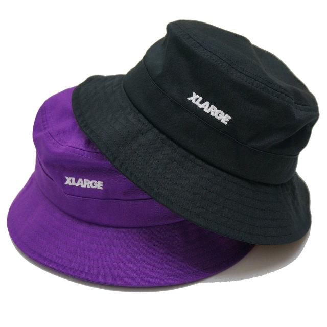 XLARGE エクストララージ バケットハット POCKET AJUSTABLE CAMP HAT ブラック パープル