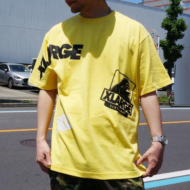 全4色 エクストララージ XLARGE Tシャツ RANDOM PRINT S/S Tee 半袖  ホワイト ブラック ピンク イエロー
