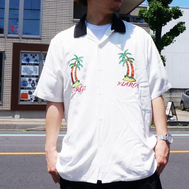 全2色 XLARGE エクストララージ 半袖シャツ PERMANENT VACATION S/S SHIRT 開襟シャツ ホワイト ネイビー